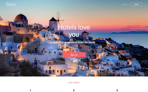 Screenshot of Home Page hotelied.com - Hotelied - captured Jan. 5, 2016