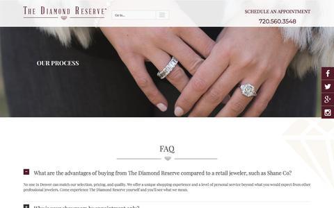 Screenshot of FAQ Page thediamondreserve.com - Diamond FAQ   The Diamond Reserve Denver Jewelers - captured Sept. 21, 2018