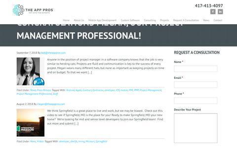 Screenshot of Developers Page theapppros.com - developer - captured Dec. 13, 2018