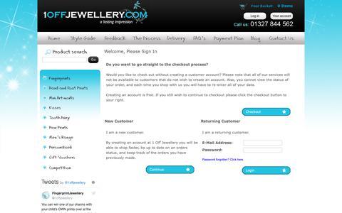 Screenshot of Login Page 1offjewellery.co.uk - Login : 1 Off Jewellery - captured Oct. 20, 2018