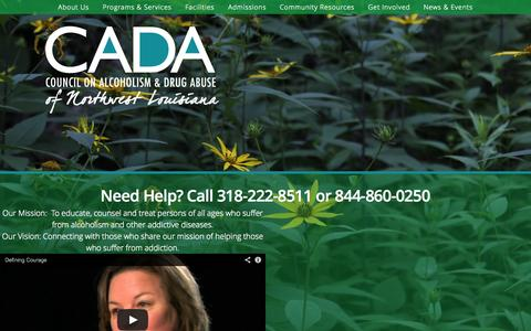 Screenshot of Locations Page cadanwla.org - Council on Alcoholism & Drug Abuse of Northwest Louisiana   Healing, Hope, and Happiness from addiction and despair - captured Oct. 8, 2014