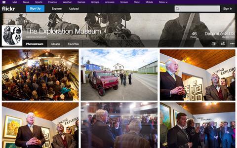 Screenshot of Flickr Page flickr.com - Flickr: explorationmuseum's Photostream - captured Oct. 26, 2014