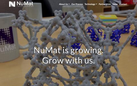 Screenshot of Jobs Page numat-tech.com - Careers - NuMat Technologies - captured Oct. 19, 2018