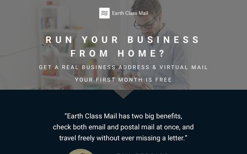 Screenshot of Landing Page earthclassmail.com - Persuasion Agency - captured Jan. 29, 2017