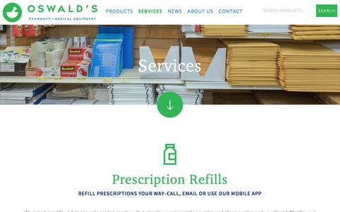 Screenshot of Services Page oswaldspharmacy.com - Our Services | Oswald's Pharmacy - captured Oct. 17, 2017
