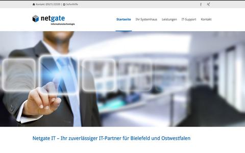 Screenshot of Home Page netgate-it.de - Netgate-IT Netgate-IT - Ihr zuverlässiger IT-Partner - captured Jan. 12, 2016