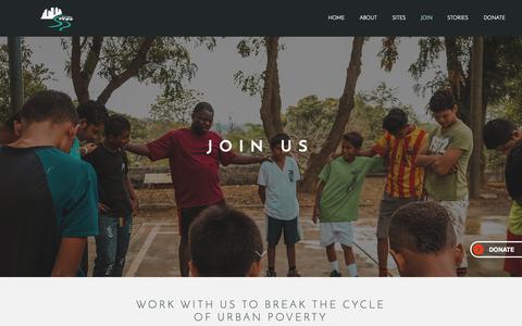 Screenshot of Signup Page servantpartners.org - Servant Partners | Join - captured Nov. 5, 2018