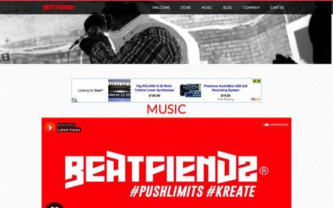 Screenshot of Press Page beatfiendz.com - Media  - BeatFiendz - captured Oct. 5, 2014