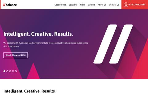 Screenshot of Home Page balanceinternet.com.au - Magento Developers Melbourne | Sydney | Brisbane | Award Winning Agency - captured July 14, 2018
