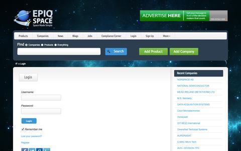 Screenshot of Login Page epiqspace.com - Login - Epiq Space - captured Sept. 26, 2014