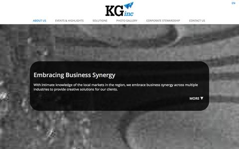 Screenshot of Home Page kginc.com.cn - KG Inc   Embracing Busines Synergy - captured Sept. 30, 2014