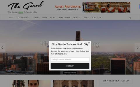 Screenshot of Home Page the-gorod.com - Elite Guide To New York City - The Gorod - captured Dec. 5, 2015
