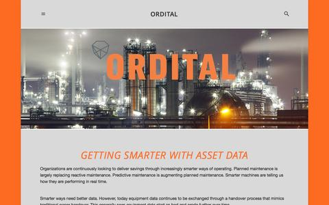 Screenshot of Home Page ordital.com - ORDITAL - captured Sept. 30, 2014