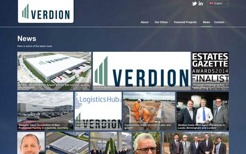 Screenshot of Press Page verdion.com - News - Verdion - captured Oct. 26, 2014