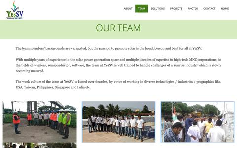 Screenshot of Team Page yessv.com - :::YesSV::: - captured Oct. 1, 2018