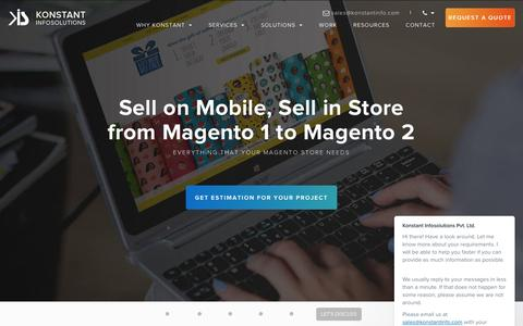 Magento eCommerce Development Company India - Konstantinfo
