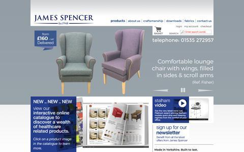 Screenshot of Home Page jamesspencer.co.uk - James Spencer & Co. Ltd. | Welcome to our range of healthcare furnishings - captured Nov. 14, 2018