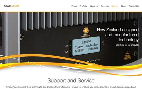 Screenshot of Support Page enasolar.net - Support - EnaSolar - captured Nov. 8, 2016