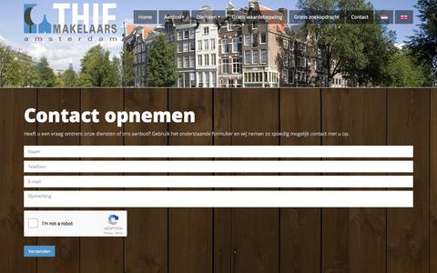 Screenshot of Contact Page thiemakelaars.nl - Contact - Thie Makelaars Amsterdam - captured Oct. 25, 2017