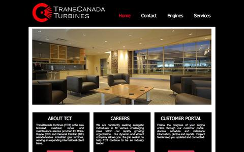 Screenshot of Contact Page tcturbines.com - tcturbines - captured Oct. 7, 2014