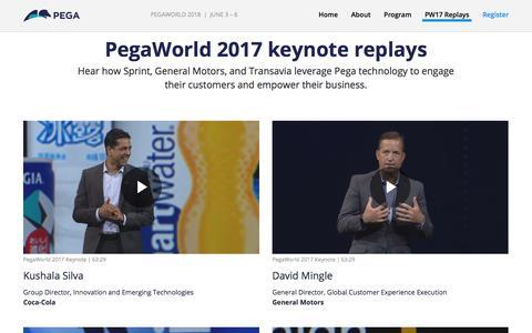 PegaWorld 2017 Keynote Replays | Pega