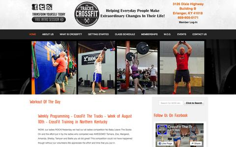 Screenshot of Home Page crossfitthetracks.com - Home | CrossFit The Tracks - captured Sept. 12, 2015
