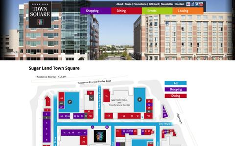 Screenshot of Maps & Directions Page sugarlandtownsquare.com - Maps | Sugar Land Town Square - captured Oct. 8, 2014