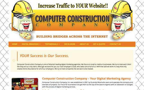 Screenshot of About Page computerconstructionco.com - Computer Construction Company - Your Digital Marketing Agency - captured Dec. 31, 2016