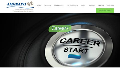 Screenshot of Jobs Page amgraph.com - Careers - captured Oct. 8, 2017