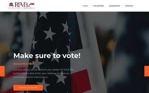 Screenshot of Home Page rpvb.org - rpvb – Republican Party of Virginia Beach - captured Nov. 15, 2018