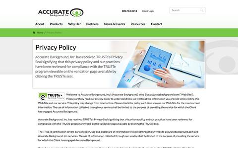 Privacy Policy | Accurate Background