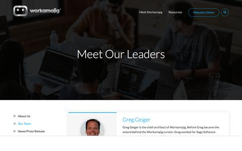 Screenshot of Team Page workamajig.com - Meet the Workamajig Team Leaders - captured June 6, 2018