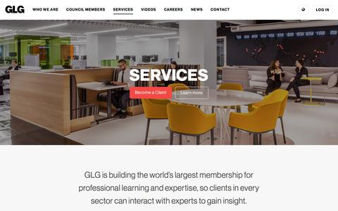 Screenshot of Services Page glg.it - Engage With Us               | GLG - captured May 30, 2017