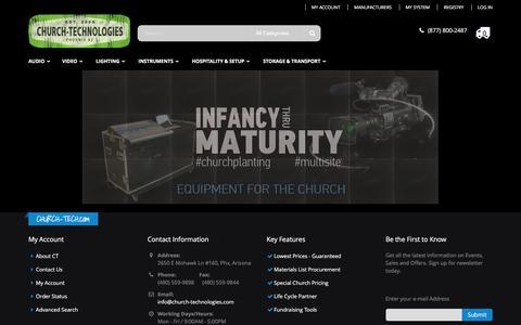 Screenshot of Home Page church-tech.com - Welcome to Church-Tech.com | Call Today @ (877) 800-2487 - captured Feb. 16, 2016