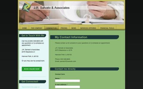 Screenshot of Contact Page jrsalvato.com - J.R. Salvato & Associates - Contact Us - captured Nov. 2, 2014