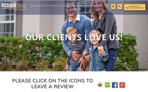 Screenshot of Testimonials Page designfirstbuilders.com - Testimonials - Design First Builders - captured July 13, 2018