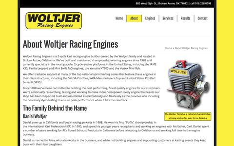 Screenshot of About Page woltjerengines.com - About Woltjer Racing Engines - Woltjer Racing Engines - captured June 14, 2016