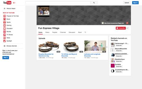 Screenshot of YouTube Page youtube.com - Fun Express Village  - YouTube - captured Oct. 23, 2014