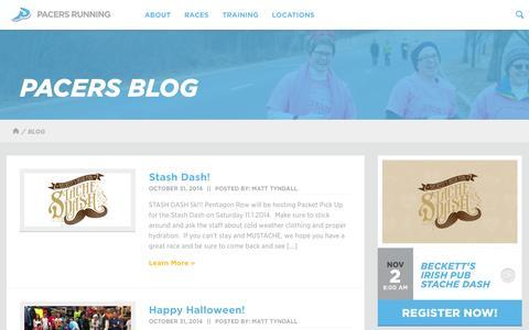 Screenshot of Blog runpacers.com - Blog   Pacers Running - captured Nov. 1, 2014