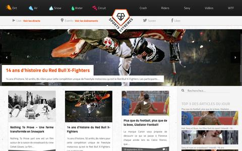 Screenshot of Home Page sports-extremes.net - Sports-Extremes.net   L'actualité des sports extrêmes - captured Sept. 19, 2014