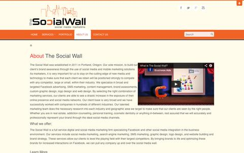 Screenshot of About Page social-wall.com - About The Social Wall | The Social Wall - captured Oct. 9, 2014