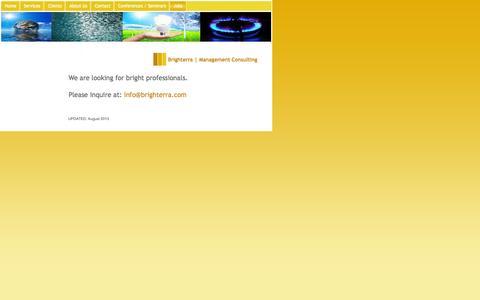 Screenshot of Jobs Page brighterra.com - Jobs - Brighterra LLC | Management Consulting - captured Oct. 5, 2014