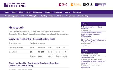 Screenshot of Signup Page constructingexcellence.org.uk - How to Join - Constructing Excellence - captured Dec. 12, 2015
