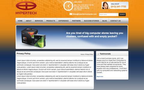 Screenshot of Privacy Page hypertechcomputer.com - Privacy Policy   HyperTech Computers, Inc.HyperTech Computers, Inc. - captured Oct. 3, 2014
