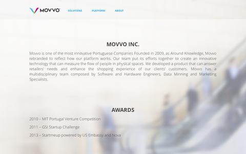 Screenshot of About Page movvo.com - Movvo - captured Nov. 5, 2014