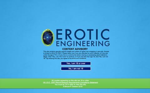 Screenshot of Home Page eroticengineering.com - Erotic Engineering - Mindful Masturbation for Men - captured July 19, 2018