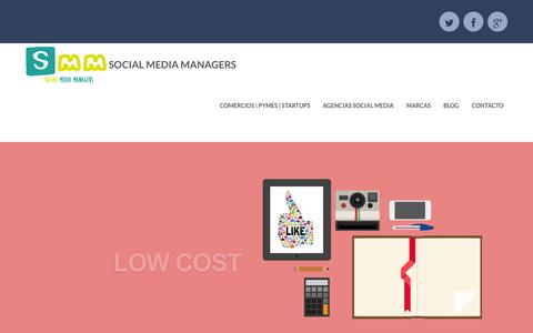 Screenshot of Home Page social-media-managers.es - Social MEDIA Managers - captured Sept. 30, 2014