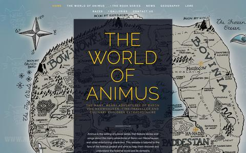 Screenshot of Home Page animusnews.com - The World of Animus - captured Sept. 19, 2014