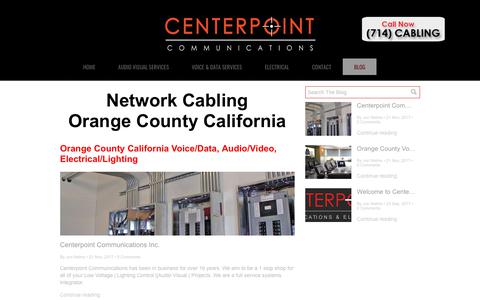 Screenshot of Blog centerpointcommunications.com - Centerpoint Communications Inc. Low Voltage Blog - captured July 16, 2018
