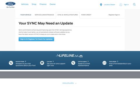 SYNC Software Updates | SYNC Help | Official Ford Owner Site